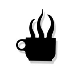 Wrought Iron Coffee Cup Magnet