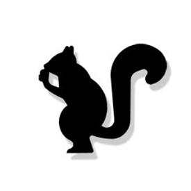 Wrought Iron Squirrel Magnet