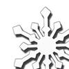 Wrought Iron Snowflake Magnet