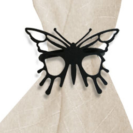 Wrought Iron Butterfly Napkin Ring