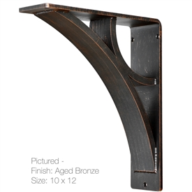 "Our Eclipse Wrought Iron Corbel Measures 3"" Wide is available in 6 bracket sizes and 5 finishes. Bracket is made and sold by Timeless Wrought Iron"