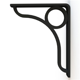 "Our Lauren Wrought Iron Corbel Measures 1.5"" Wide is available in 6 bracket sizes and 5 finishes. Bracket is made and sold by Timeless Wrought Iron"