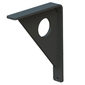 "Our Tao Wrought Iron Corbel Measures 3"" Wide is available in 6 bracket sizes and 5 finishes. Bracket is made and sold by Timeless Wrought Iron"