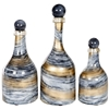 Pictured here is a set of 3 Cheers Glass Bottles in small, medium and large sizes.