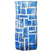 Pictured here is the Large Hawthorne Sapphire Glass Vase, hand-made from recycled glass.