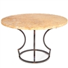 "Pictured here is the Charles Dining Table with Wrought iron base and 54"" Round Marble Table Top"