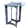 Pictured here is the Sebastian End Table with Wrought iron base and Glass Table Top