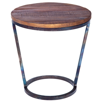 Pictured is the Ayres Accent Table Base available in 3 finish options and supports a 18 inch round table top of your choice.