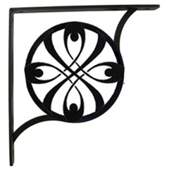 Wrought Iron Ribbon Shelf Brackets