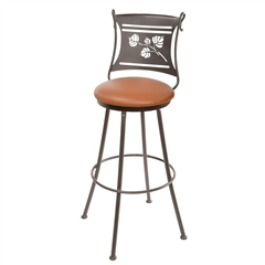 Wrought Iron Aspen Counter Stool made by Stone County Ironworks, sold at Timeless Wrought Iron