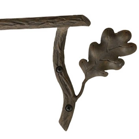 Pictured Here is the Oakdale 16 inch Iron Towel Bar with hand-forged textures, leaves and acorns that closely resemble the natural beauty of the grand oak.