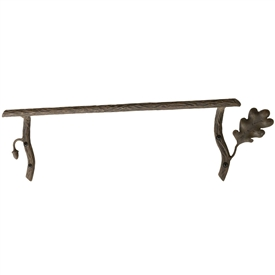 Pictured Here is the Oakdale 24 inch Iron Towel Bar with hand-forged textures, leaves and acorns that closely resemble the natural beauty of the grand oak.
