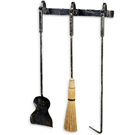 Studio Collection Fireplace Tool Set Wall Mount