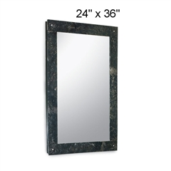 Pictured here is the large Studio Wall Mirror from Stone County Ironworks