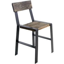 Pictured here is the Urban Forge 25-inch Iron Barstool hand-forged by Stone County Ironworks.
