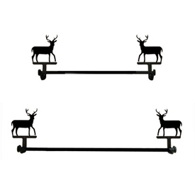 Wrought Iron Deer Towel Bar