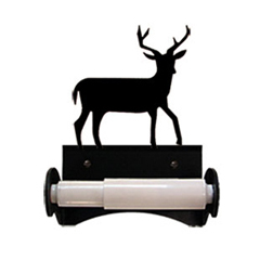 Wrought Iron Deer Toilet Tissue Holder
