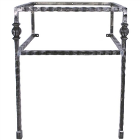 Pictured here is the 25.5 inch wide Parkview Iron Bathroom Vanity Base with legs available in several finish options.
