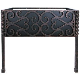 Pictured here is the 35.5 inch wide Paisley Iron Bathroom Vanity Base with legs available in several finish options.