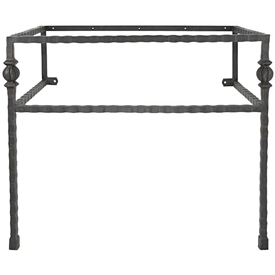 Pictured here is the 47.5 inch wide Parkview Iron Bathroom Vanity Base with legs available in several finish options.