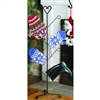 Wrought Iron Heart Mitten Dryer Stand