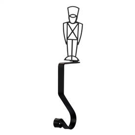 Wrought Iron Toy Soldier Stocking Holder