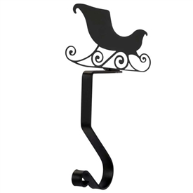 Wrought Iron Sleigh Stocking Holder