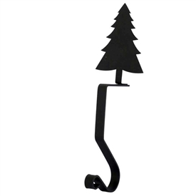 Wrought Iron Pine Tree Stocking Holder