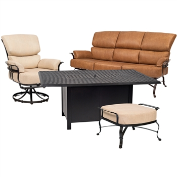 Pictured here is the Atlas 4 pc. Lounge Set manufactured by Woodard.