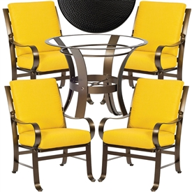 Pictured here is the Cascade 5 pc Dining Set manufactured by Woodard.