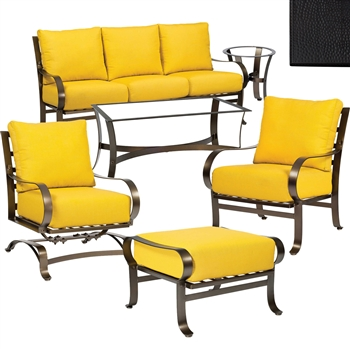 Pictured here is the Cascade 6 pc. Lounge Set manufactured by Woodard.