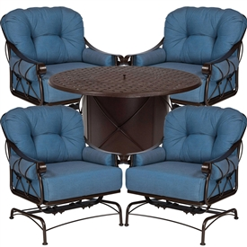Pictured here is the Derby 5 pc. Chat Set manufactured by Woodard.