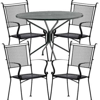 Pictured here is the Bradford 5 pc. Dining Set manufactured by Woodard.