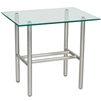Pictured here is the Uptown Outdoor End Table with Glass Top from Woodard.