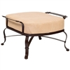 Pictured here is the Atlas Outdoor Ottoman with upholstered all-weather cushion from Woodard.