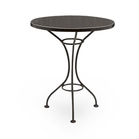 "Pictured is the Parisienne 30"" Round Bistro Table with Mesh Top from Woodard Outdoor Furniture, sold by Timeless Wrought Iron."