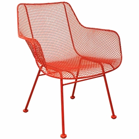Pictured here is the Sculptura Outdoor Occasional Chair with comfortable contoured wire mesh seat from Woodard.