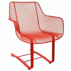 Pictured here is the Sculptura Outdoor Occasional Spring Chair with comfortable contoured wire mesh seat from Woodard.