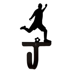 Wrought Iron Soccer Player Wall Hook Small