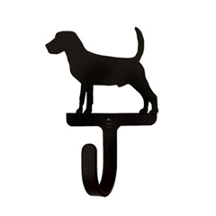 Wrought Iron Wall Hook Small - Beagle