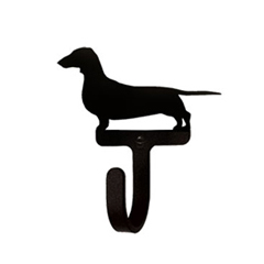 Wrought Iron Wall Hook Small - Dachshund