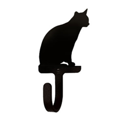 Wrought Iron Wall Hook Small - Cat Sitting