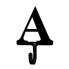 Wrought Iron Letter A Wall Hook