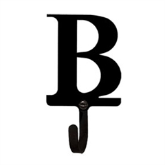 Wrought Iron Letter B Wall Hook