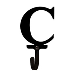 Wrought Iron Letter C Wall Hook