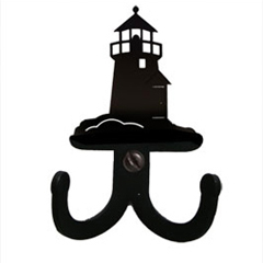 Wrought Iron Lighthouse Double Wall Hook