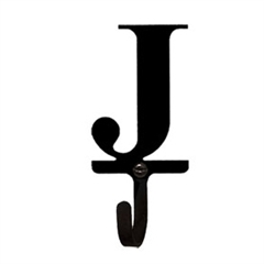 Wrought Iron Letter J Wall Hook