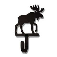 Wrought Iron Moose Magnet Hook