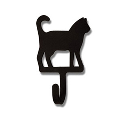 Wrought Iron Cat Magnet Hook