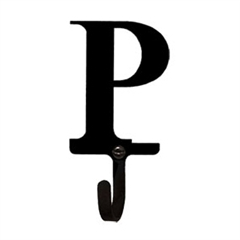 Wrought Iron Letter P Wall Hook